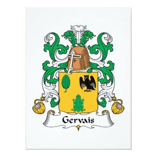 """Escudo de la familia de Gervais Invitación 6.5"""" X 8.75"""""""