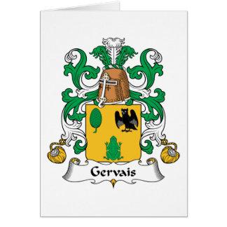 Escudo de la familia de Gervais Tarjeta De Felicitación