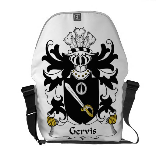 Escudo de la familia de Gervis Bolsa De Mensajeria