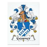 Escudo de la familia de Gessner Invitación 16,5 X 22,2 Cm