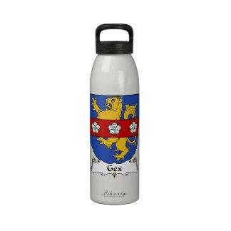 Escudo de la familia de Gex Botellas De Agua Reutilizables