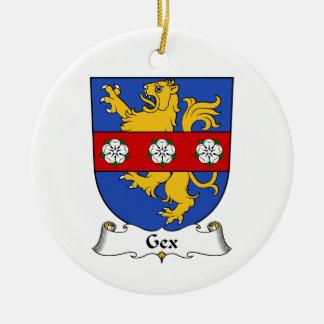 Escudo de la familia de Gex Adorno Redondo De Cerámica