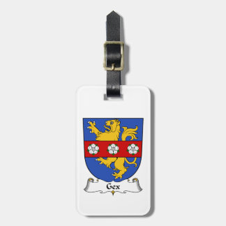 Escudo de la familia de Gex Etiqueta Para Maleta
