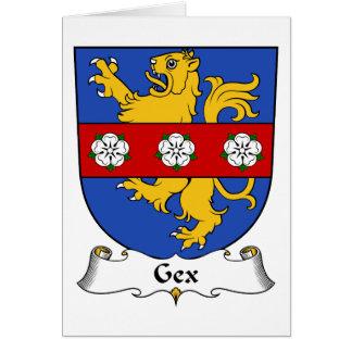 Escudo de la familia de Gex Felicitacion