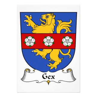 Escudo de la familia de Gex Comunicados Personalizados