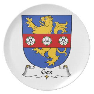 Escudo de la familia de Gex Platos Para Fiestas