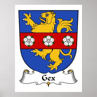 Escudo de la familia de Gex Posters