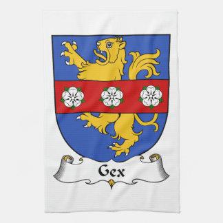 Escudo de la familia de Gex Toallas De Mano