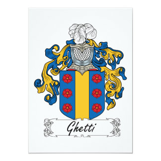 """Escudo de la familia de Ghetti Invitación 5"""" X 7"""""""