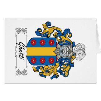 Escudo de la familia de Ghetti Tarjeta De Felicitación