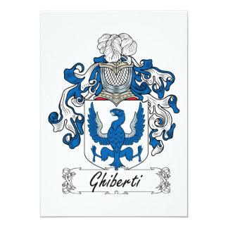 Escudo de la familia de Ghiberti Comunicados Personalizados