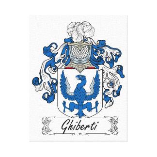 Escudo de la familia de Ghiberti Lona Estirada Galerias