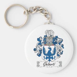 Escudo de la familia de Ghiberti Llavero Redondo Tipo Pin