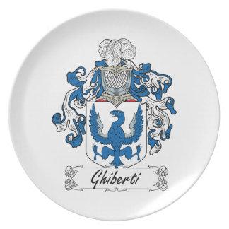 Escudo de la familia de Ghiberti Plato