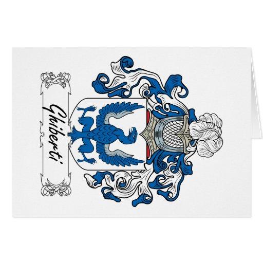 Escudo de la familia de Ghiberti Tarjeta De Felicitación