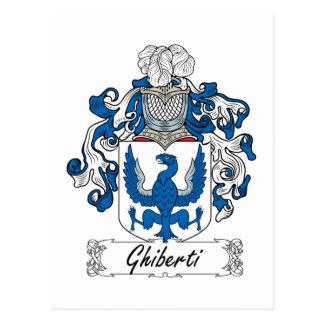 Escudo de la familia de Ghiberti Tarjetas Postales