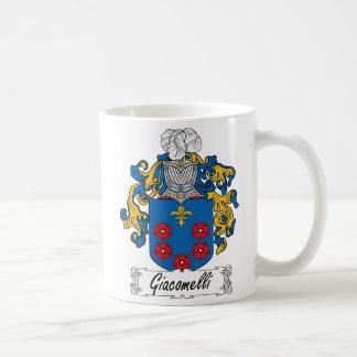 Escudo de la familia de Giacomelli Taza Clásica