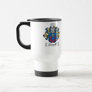 Escudo de la familia de Giacomelli Taza De Viaje