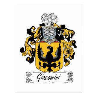 Escudo de la familia de Giacomini Postales