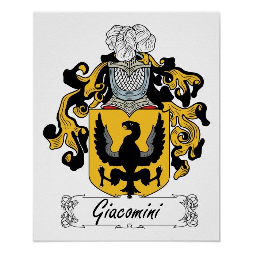 Escudo de la familia de Giacomini Póster