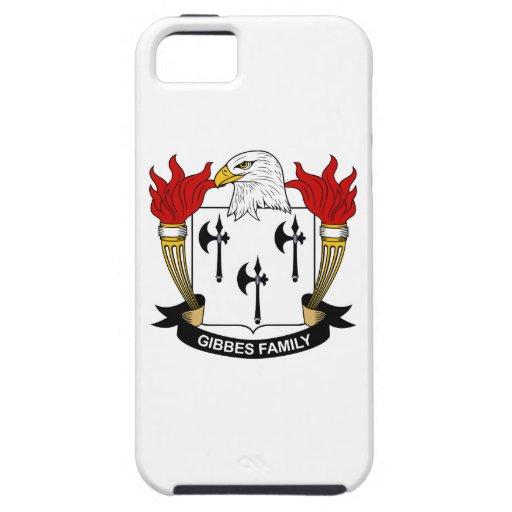 Escudo de la familia de Gibbes iPhone 5 Case-Mate Cobertura