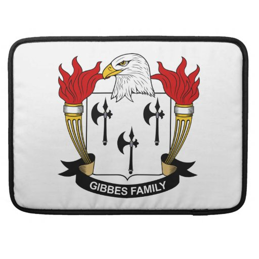 Escudo de la familia de Gibbes Funda Macbook Pro