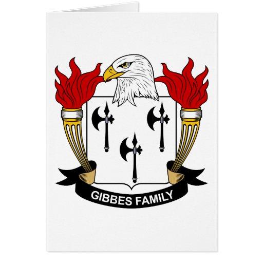 Escudo de la familia de Gibbes Tarjeta De Felicitación
