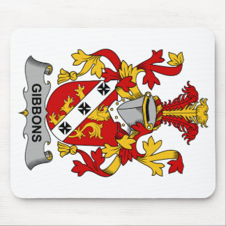 Escudo de la familia de Gibbons Tapetes De Raton