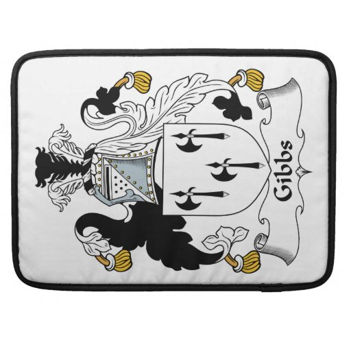 Escudo de la familia de Gibbs Funda Para Macbooks