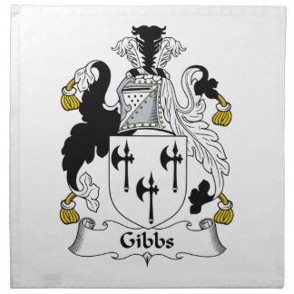 Escudo de la familia de Gibbs Servilletas