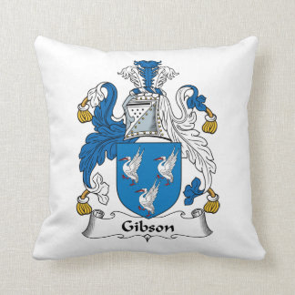 Escudo de la familia de Gibson Cojín Decorativo