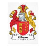 Escudo de la familia de Gibson Invitaciones Personalizada