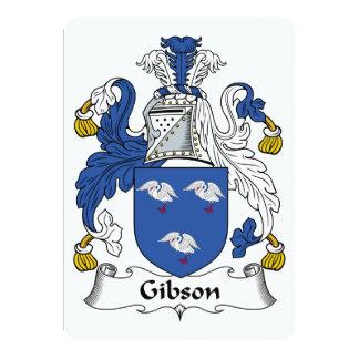 """Escudo de la familia de Gibson Invitación 5"""" X 7"""""""