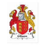 Escudo de la familia de Gibson Postal