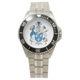 Escudo de la familia de Gibson Relojes