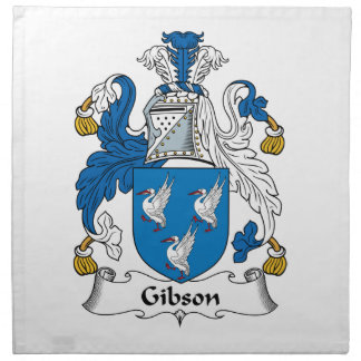 Escudo de la familia de Gibson Servilletas
