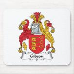 Escudo de la familia de Gibson Alfombrilla De Raton