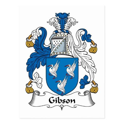 Escudo de la familia de Gibson Tarjetas Postales