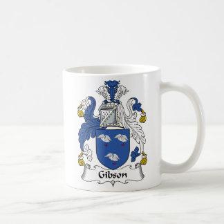 Escudo de la familia de Gibson Taza De Café