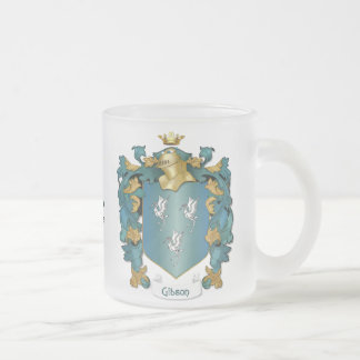 Escudo de la familia de Gibson - texto del Taza De Cristal