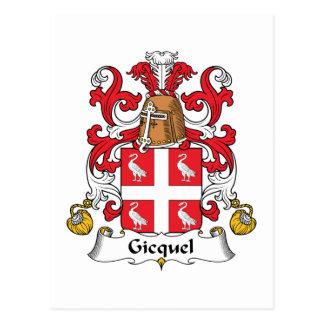Escudo de la familia de Gicquel Postales