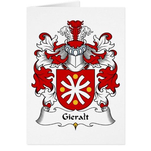 Escudo de la familia de Gieralt Tarjeta De Felicitación