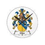 Escudo de la familia de Giese Reloj De Pared