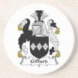 Escudo de la familia de Giffard Posavaso Para Bebida