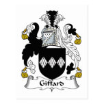 Escudo de la familia de Giffard Postal
