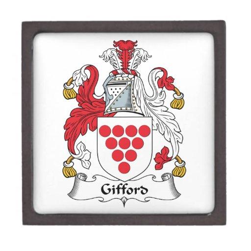 Escudo de la familia de Gifford Caja De Recuerdo De Calidad