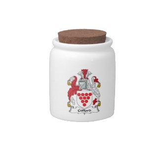 Escudo de la familia de Gifford Jarras Para Caramelos