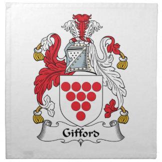 Escudo de la familia de Gifford Servilleta