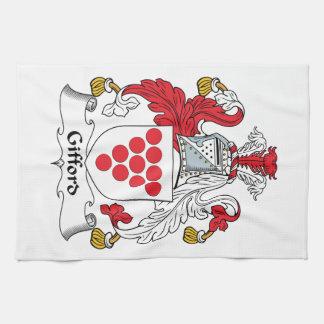 Escudo de la familia de Gifford Toallas De Cocina