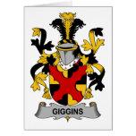 Escudo de la familia de Giggins Felicitación